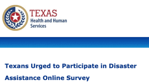 Texans Urged to Participate in Disaster Assistance Online Survey